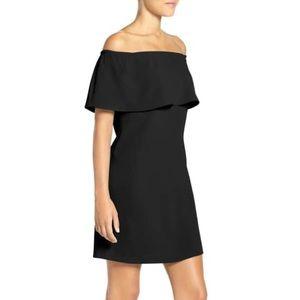 Charles Henry Little Black Off Shoulder Dress